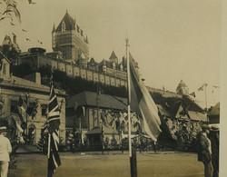 Canada Vieux Quebec Chateau Frontenac Visite Du Prince De Galles Ancienne Photo Presse 1923 - Oud (voor 1900)