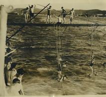 Cuba Guantanamo Bay Manoeuvres Militaires USS Texas Ancienne Photo Presse 1930 - Oud (voor 1900)