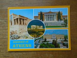 """Grèce , Souvenir D'athènes , Multi-vues """""""" Timbrage Mécanique """""""" - Griekenland"""