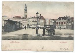 Middelburg Markt Tram Stoomtram Tramway Vapeur Eisenbahn Dampf Steam Railway 1903 - Middelburg