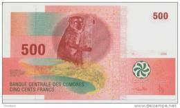 COMOROS P. 15b 500 F 2012 UNC - Comoros