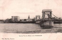 5889 Carte Postale Vue Du Pont Du Rhône Et De TARASCON        ( Scan Recto Verso) 13 Bouches Du Rhône - Tarascon