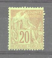 0co  335  -  Colonies Générales  :  Yv  52   (*) - Alphée Dubois