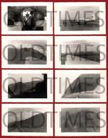 """CABO VERDE - ILHA DO FOGO - LOTE 8 PCS. - VOO DE OBSERVACAO DO VULCAO """"PICO DO FOGO"""" - 1960 REAL PHOTO - Plaatsen"""