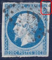 N°14A Variété Suarnet 5, Crochet Dans Le Fleuron Nord Est, Position 18G2, TB - 1853-1860 Napoleone III