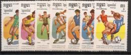 Kampuchea - 1986 - N°Yv. 604 à 610 - Football World Cup Mexico 86 - Neuf Luxe ** / MNH / Postfrisch - Kampuchea