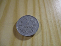 France - 5 Francs Lavrillier 1947 Alu.N°1729. - J. 5 Francs