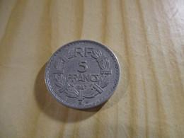 France - 5 Francs Lavrillier 1947 B Alu.N°1738. - J. 5 Francs