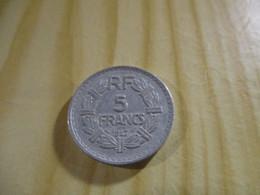France - 5 Francs Lavrillier 1947 Alu.N°1739. - J. 5 Francs