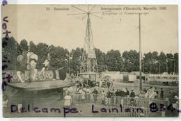 - 50 - Exposition Internationale D'électricité, 1908, MARSEILLE - Aéroplane, Et Trombineoscope, Non écrite, TTBE, Scans. - Electrical Trade Shows And Other