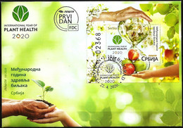 SERBIA 2020 FDC  International Year Of Plant Health Apples, Apple Trees, Bee Bees Abeille - Obst & Früchte