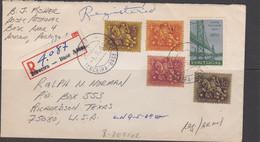 AZORES - 1969 - REG ,AIRMAIL COVER FROM  TERCEIRA US AIR FORCE BASE TO RICHARDSON, TEXAS - Ponta Delgada