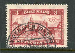"""Germany Deutsches Reich USED 1924 """"Marienberg Castle"""" - Used Stamps"""