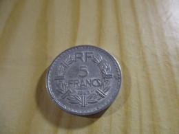 France - 5 Francs Lavrillier 1945 Alu.N°1748. - J. 5 Francs