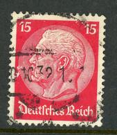 """Germany Deutsches Reich USED 1932 """"Pres. Von Hindenburg"""" - Used Stamps"""