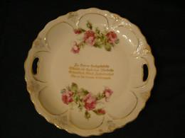 Porzellan Anbietteller Mit Spruch - Zur Hochzeit  -  älter (898) - Zonder Classificatie