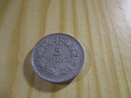France - 5 Francs Lavrillier 1947 Alu.N°1755. - J. 5 Francs