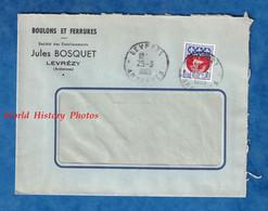 2 Enveloppes Anciennes - LEVREZY ( Ardennes ) - Etablissements Jules BOSQUET - Boulons & Ferrures - 1965 - Timbre Cachet - Covers & Documents