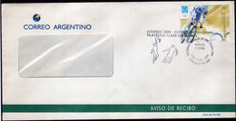 Argentina - 2004 - Carta - Juvenex 2004 - Homenaje Medallas De Oro Atenas 2004 - Basquet Y Futbol - A1RR2 - Oblitérés
