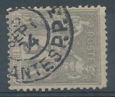 D - [101234]TB//O/Used-N° 87, 3c Gris, Sage Type II, Belle Obl  Des 'JOURNAUX Ou IMPRIMES PP' De Nantes - 1876-1898 Sage (Tipo II)