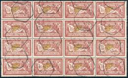 FRANCE Bloc De 16x 1fr Merson Yv.121 - Oblitéré TB ° - 1900-27 Merson