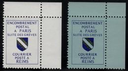 FRANCE 1988 - Timbres De Grève REIMS Sur Bleu & Sur Blanc - Neufs** - Huelga