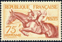 FRANCE 1953 - Yv.965 / Mi.983 75fr Hippisme / Horse Racing - Neuf* - Unused Stamps