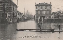 V23-94) SAINT MAUR (SEINE) VILLA SHAKEN - L ' AVENUE DE JOINVILLE + DOS PUB BOUILLON MAGGI - ( 2 SCANS ) - Saint Maur Des Fosses