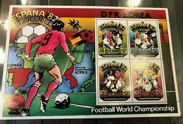 Korea North 1981 - Mi 2094-6+2098KB+bl.93 MNH (**) - Football Soccer - World Cup (volt - 1982 – Espagne