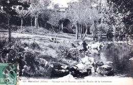 03 - Allier - MARCILLAT - Paysage Sur La Bouron Pres Du Moulin De La Contamine - Lavandiere - Andere Gemeenten