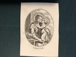Kopergravure S.Maria (Papier Drukwerk) Eugenie Josephe Diercxsens °1785+1843 Anvers Antwerpen Litho Ropoll Et Fils - Obituary Notices