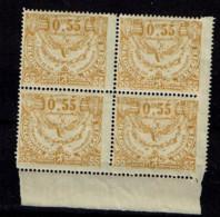 TR 108  Bloc 4  **  Cu Fentelure  + 70 - 1915-1921