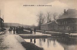 Pont à Bar , L'Ecluse ( Amont ) ( Dom-le-Mesnil , Charleville Mézières , Flize ) Bateau , Péniche , Cheval , Attelage - Charleville