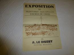 Peintre A. Le Diuzet, Exposition, Affiche 1983 Imprimée à Mèze  ; Ref 217 - Affiches