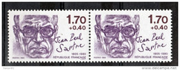 2357 Variété Sartre Point Sur Le I De Française Tenant à Normal - Autres