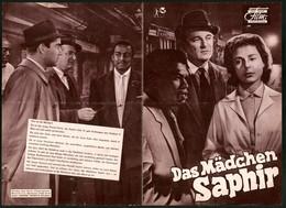 Filmprogramm DNF, Das Mädchen Saphir, Nigel Patrick, Yvonne Mitchell, Regie Edgar Flatau - Magazines