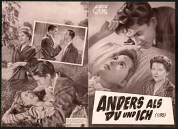 Filmprogramm DNF, Anders Als Du Und Ich, Paula Wessely, Paul Dahlke, Regie Veit Harlan - Magazines