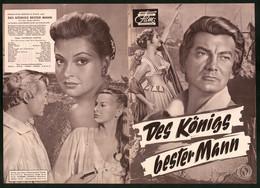 Filmprogramm DNF, Des Königs Bester Mann, Jean Marais, Nadja Tiller, Regie Georges Lampin - Magazines