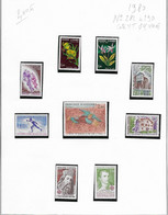 Timbres Andorre Annee Complete 1980 N° 282 à 290  Neuf++ Cote YT 14.40 Euros - Full Years
