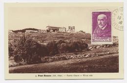 CHARCOT 90C ROSE SEUL AU RECTO CARTE FONT ROMEU 1939 NON VOYAGEE - 1921-1960: Periodo Moderno