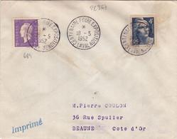 22367# MAYENNE GANDON DULAC LETTRE TARIF IMPRIME Obl CENTENAIRE FOIRE EXPOSITION LAVAL 1952 BEAUNE COTE D'OR - 1921-1960: Periodo Moderno