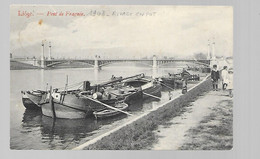 Liège - Pont De Fragnée - Rivage En Pot - Circulé: 1908 - 2 Scans - Liège
