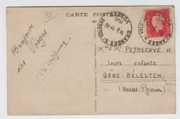 France GRANGES Sur VOLOGNE 19 10 1945 Horopan Type I Sur Marianne De Dulac 1f50 N° 691 CP Tarif Du 1 1 1946 - 1921-1960: Periodo Moderno