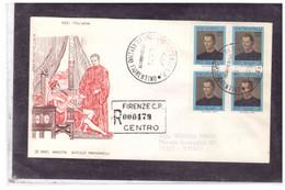 FDC6791  -   FIRENZE  28.4.1969   /   FDC  5° CENTENARIO DELLA NASCITA DI NICOLO' MACCHIAVELLI - F.D.C.