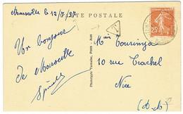 CPA TAXEE 1ER JOUR DE TARIF - 1921-1960: Periodo Moderno