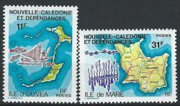 """Nle-Caledonie YT 426 & 427 """" Iles """" 1979 Neuf** - Neufs"""