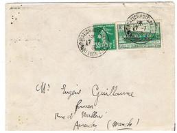 339 CONGRES CHEMINS DE FER SUR LETTRE CAD INAUGURATION HOTEL DES POSTES LYON - 1921-1960: Periodo Moderno