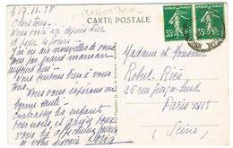 AFFRANCHISSEMENT 70C SEMEUSES 1ER JOUR DE TARIF - 1921-1960: Periodo Moderno