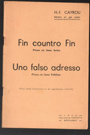 (gascon,bilngue  ) Montauban (82 Tarn Et Garonne) Fin Countro Fin (pésso)  / Uno Falso Adresso (pésso)  1942 (M1482) - Zonder Classificatie
