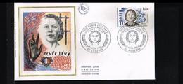 1983 - France FDC Mi. 2418 - History - Resistance - Renee Levy [P08_204] - 1980-1989